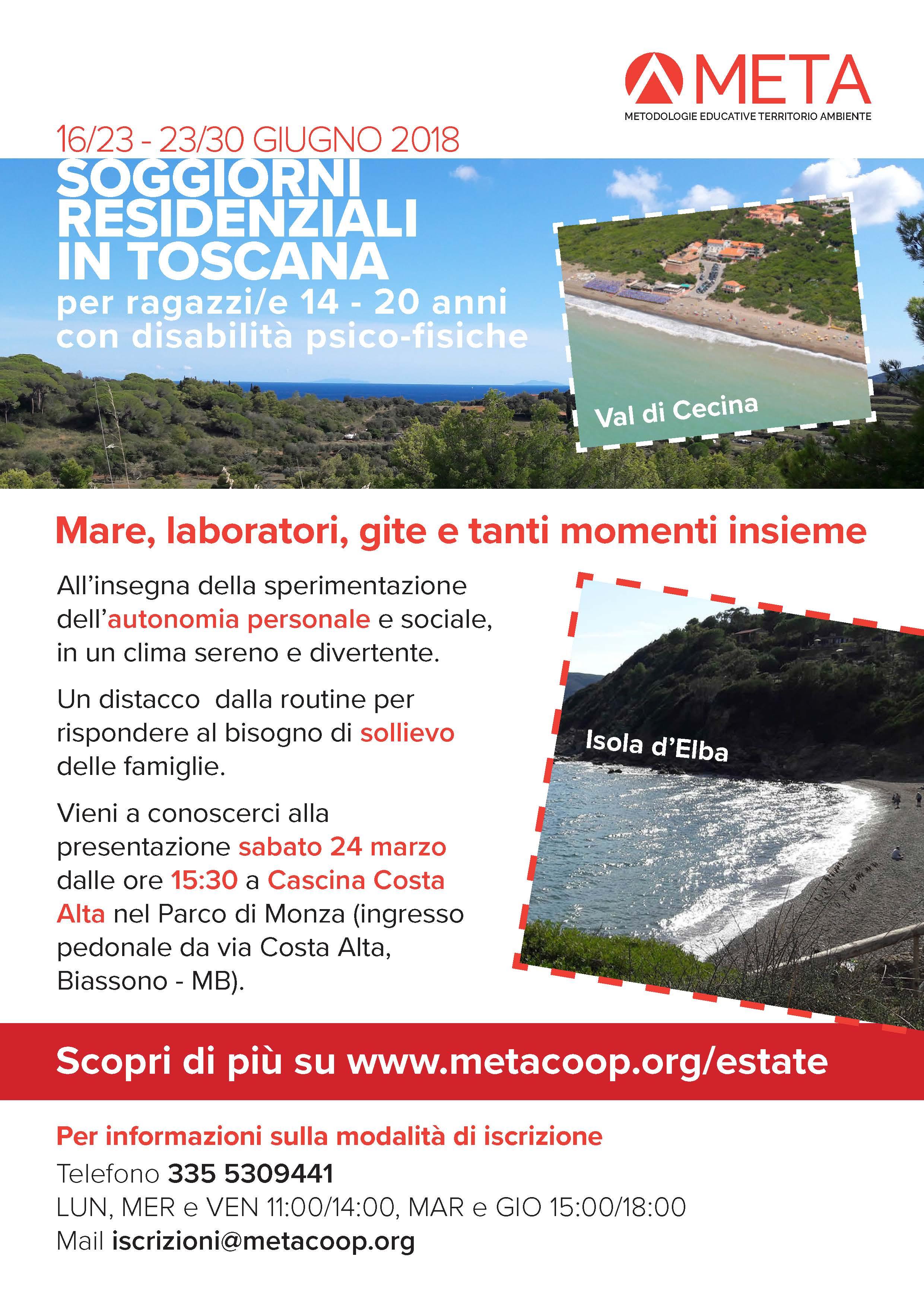 Vacanze al mare in Toscana 2018 - META